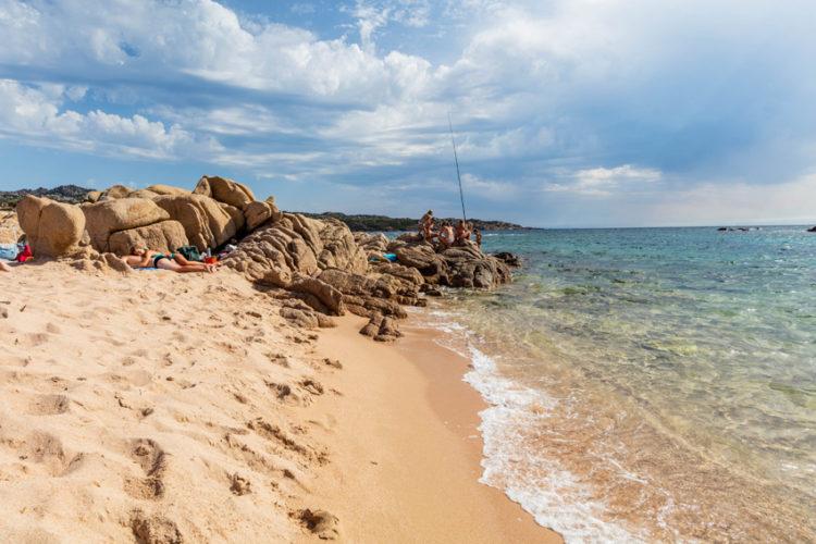 Plage, Ventilegne, famille, Bonifacio, Corse