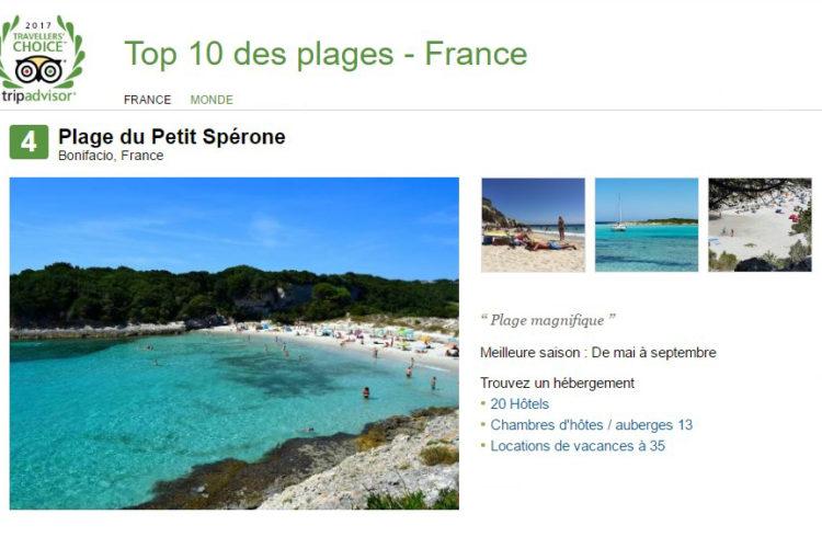 Plage, Sperone, classement, Bonifacio, Corse