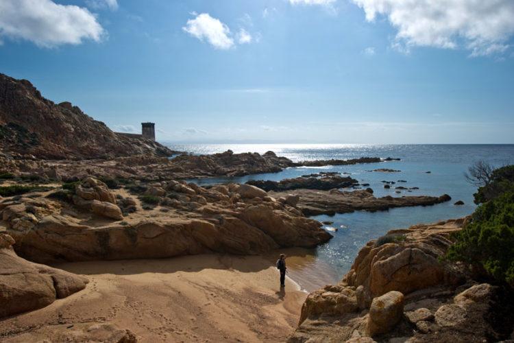 Plage, Stagnolu, balade, Bonifacio, Corse