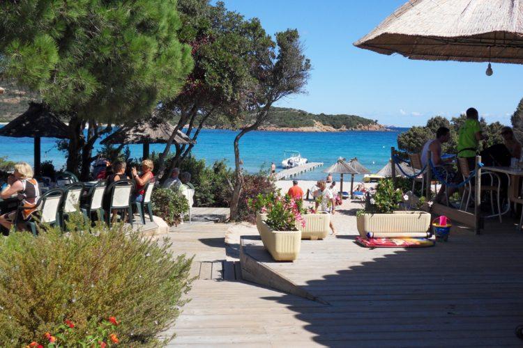 Plage, Rundinara, restaurant, Bonifacio Corse