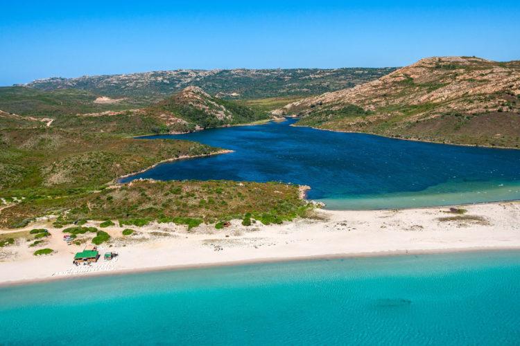 Plage, Balistra, sauvages, Bonifacio, Corse