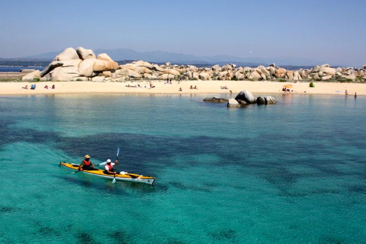 Plage, Piantarella, kayak, Bonifacio, Corse