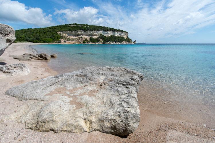 Plage, Canetu, sauvages, Bonifacio, Corse