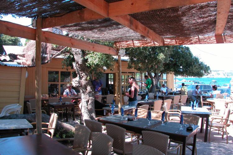 Plage, Sant'Amanza, restaurant, Bonifacio, Corse