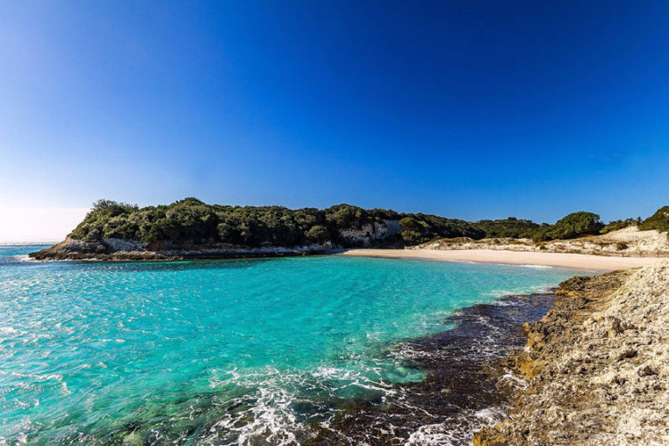 Plage, Sperone, sable fin, Bonifacio, Corse