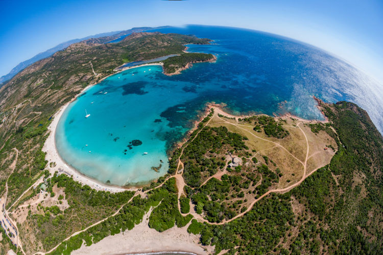 Plage, Rundinara, baie, Bonifacio Corse