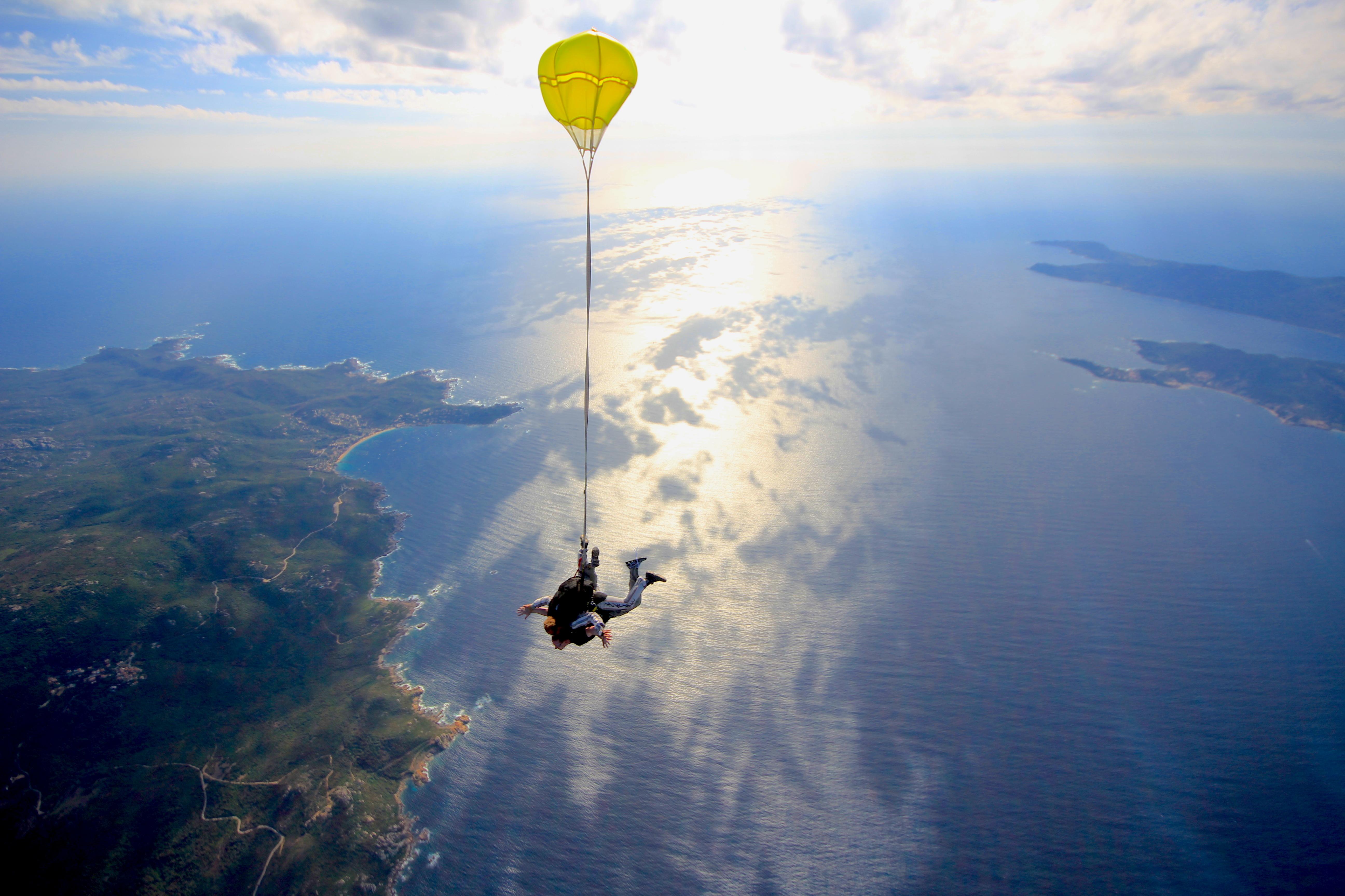 parachutisme tandem corse