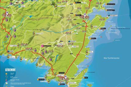 Carte Du Sud Corse
